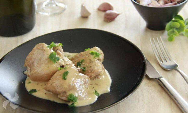 Receta de Contramuslos de pollo en salsa 1