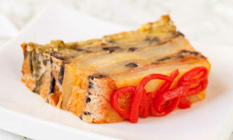 Receta de pastel de pimientos rojos fácil de preparar 1