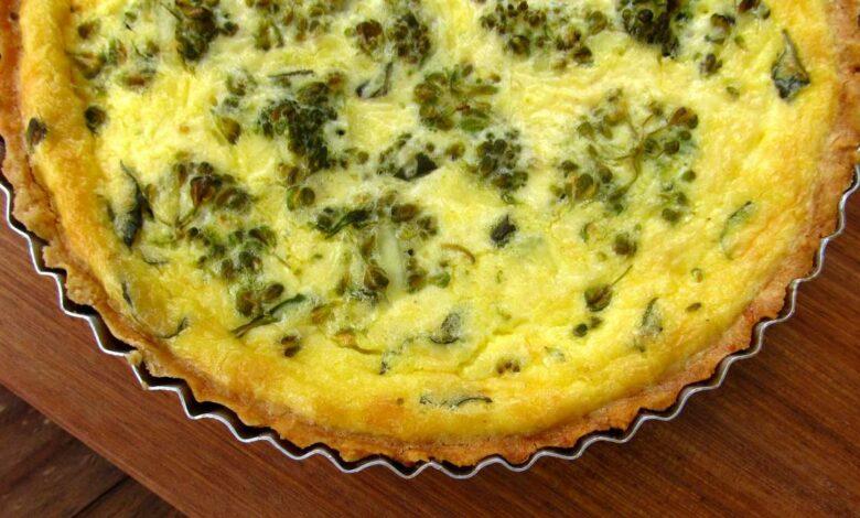 Receta de Quiche de brócoli y queso 1