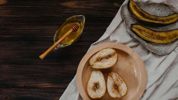 Muffins de miel y plátano