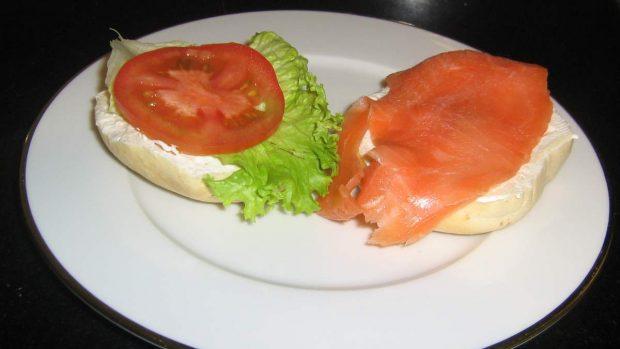 Lechuga con salmón