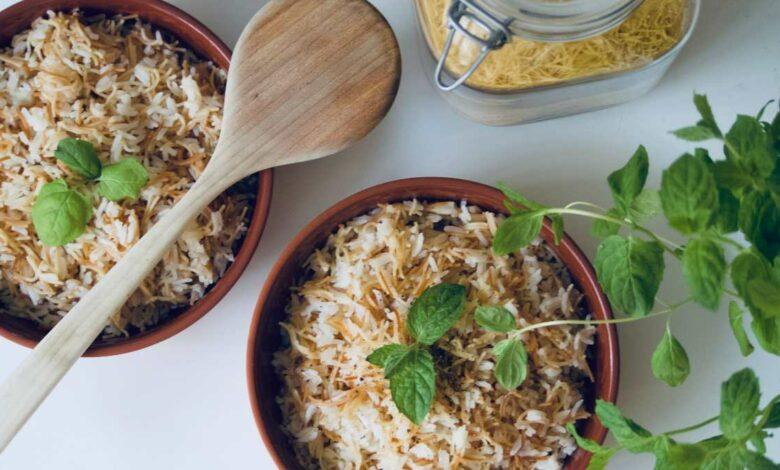 Arroz con fideos, receta bil shareyah 1
