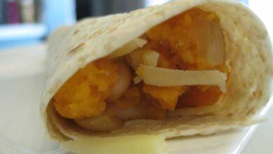 Burrito de presa ibérica y mango, receta fusión 5
