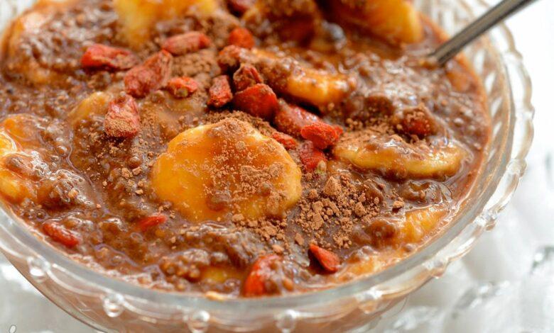 Chía pudding de piña colada y plátano, receta irresistible 1