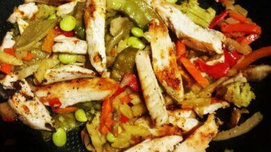 Chow fan de pollo, receta sencilla 5