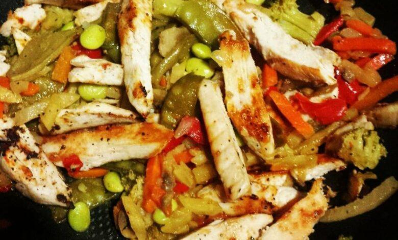 Chow fan de pollo, receta sencilla 1