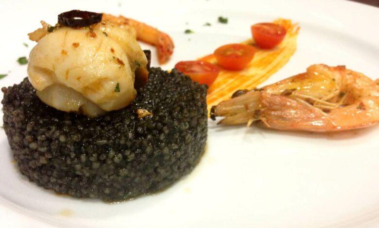Cuscús negro con pescado a la plancha, una receta diferente 1
