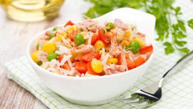 Receta de ensalada de arroz con atún fácil de preparar 2