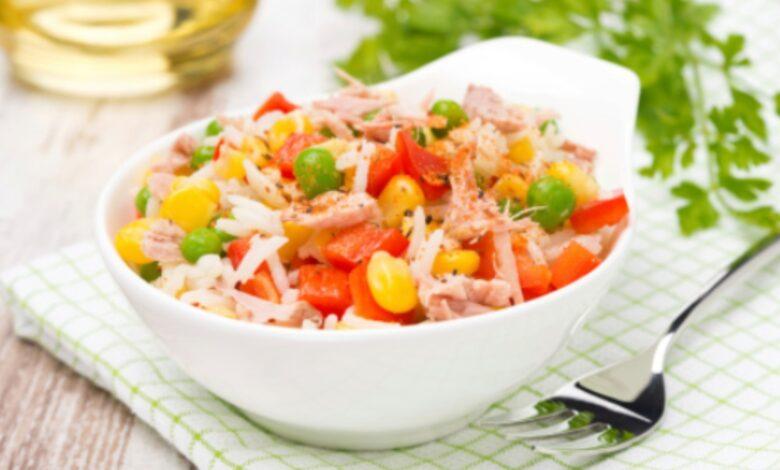Receta de ensalada de arroz con atún fácil de preparar 1
