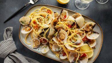 Receta de espaguetis con almejas a la marinera 3