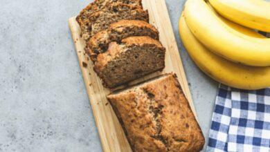 Receta de pan de plátano integral 3