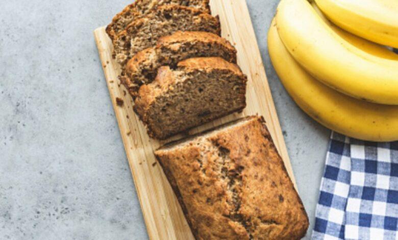 Receta de pan de plátano integral 1