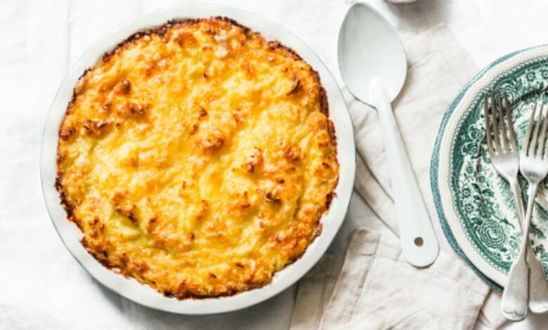 Receta de pastel de patata y queso fácil de preparar 1