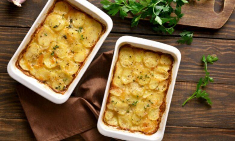 Patatas gratinadas con queso, una receta francesa fácil y deliciosa 1