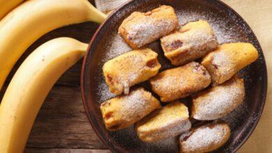Receta de plátanos rebozados 4