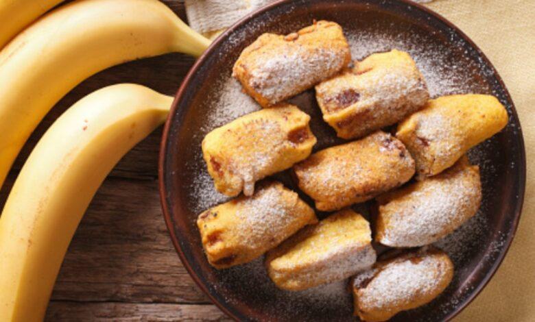 Receta de plátanos rebozados 1