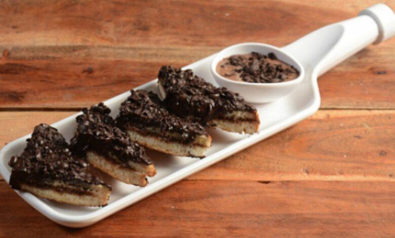 Receta de sándwich de chocolate gratinado al horno 1