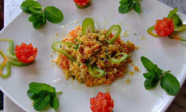 Taboule con especias y frutos secos, receta saludable 1