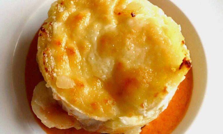 Timbal de patatas revolconas, receta tradicional 1