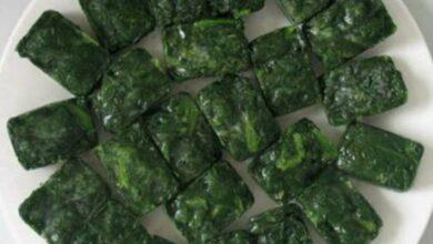 Un aperitivo sano y elegante: cubitos de espinaca 6