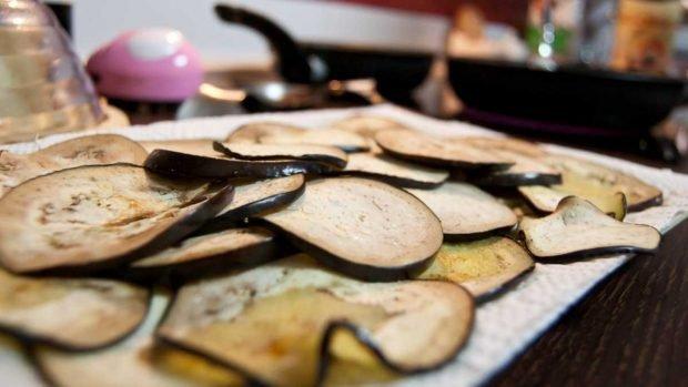 Canelones de berenjena rellenos de huevo duro y atún, receta fácil paso a paso