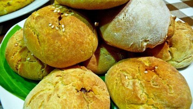 Pan de aceitunas y chorizo