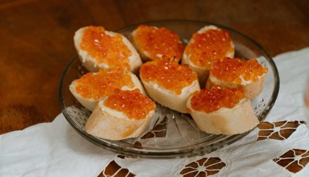 Crema de salmón y caviar