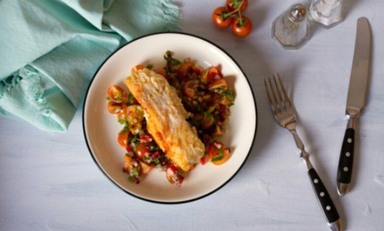 Receta de bacalao con tomate fácil de preparar paso a paso 1