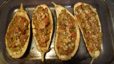Berenjenas con carne gratinadas, receta fácil paso a paso 11