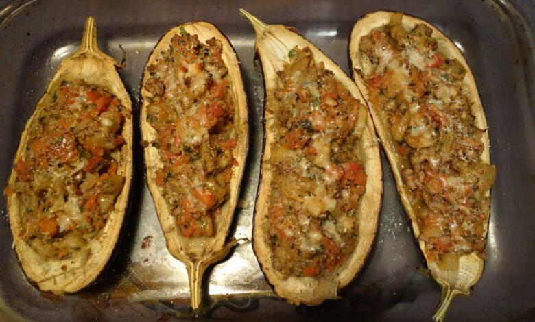 Berenjenas con carne gratinadas, receta fácil paso a paso 1