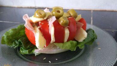 ¿Cómo hacer un acordeón de tomate? 3