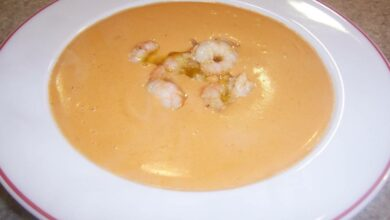 Crema suave de zanahoria con gambas, receta sencilla 2