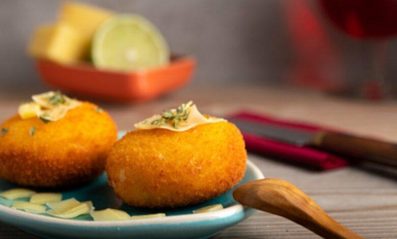 Croquetas de jamón y queso sin bechamel, receta fácil de preparar sin lactosa 1