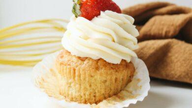 Cupcakes veganos de ruibarbo, receta gourmet 1