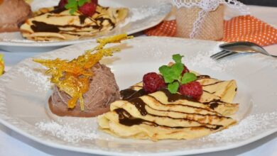 Pastel de crepes con chocolate y menta, receta aromática 7