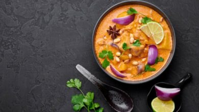 Pollo al curry con anacardos, receta rápida y fácil 2