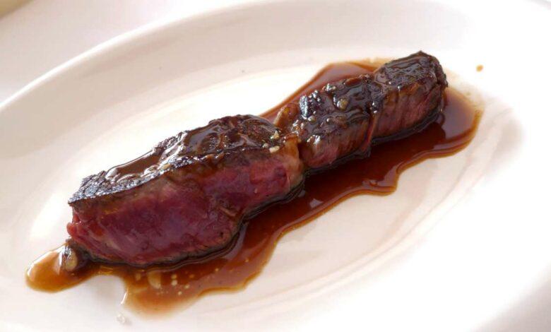 Receta de Entrecot con salsa de pimienta y patatas asadas 1