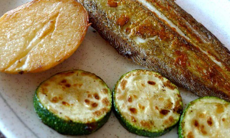 Receta de Lenguado con calabacín y queso 1
