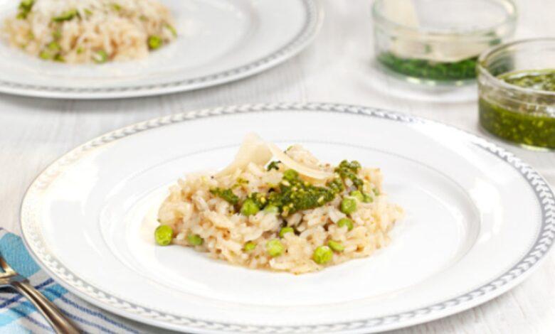 Receta de risotto al pesto con langostinos 1