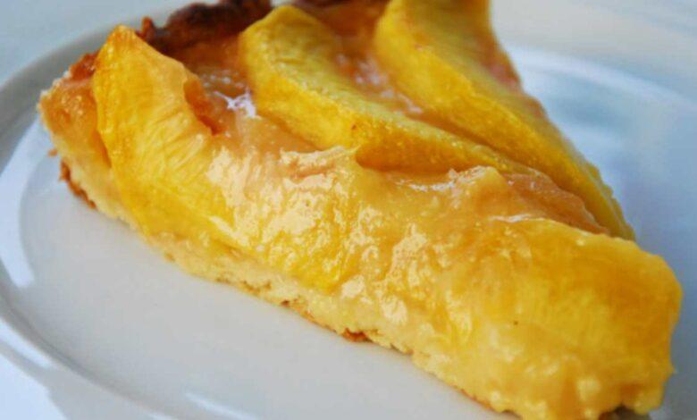 Receta de tarta de melocotón y ricota, cremosa y ligera paso a paso 1