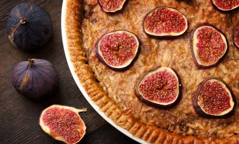 Tarta de higos al Oporto, receta dulce deliciosa 1