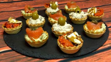 Tartaletas de crema de salmón y caviar 1