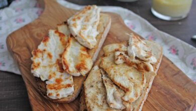 Tostas de pollo con salsa barbacoa, receta rápida 3