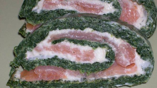 Salmón espinaca