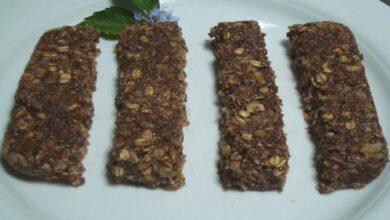Barritas energéticas de chocolate, muesli y caramelo, receta casera 5