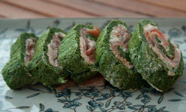Receta de brazo de espinacas y salmón fácil de preparar 1