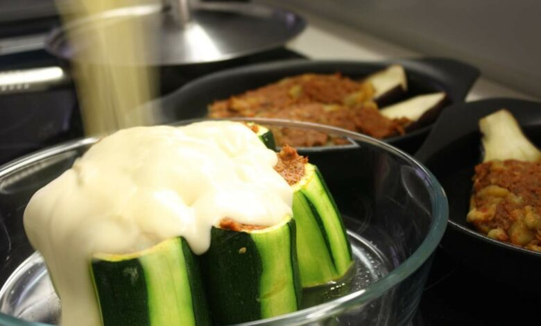 Calabacines rellenos de carne, receta fácil paso a paso 1