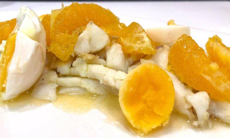 Receta de Ensalada de naranja y bacalao o Remojón andaluz 1