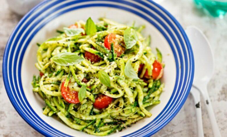 Espaguetis de calabacín, receta de saludable paso a paso 1