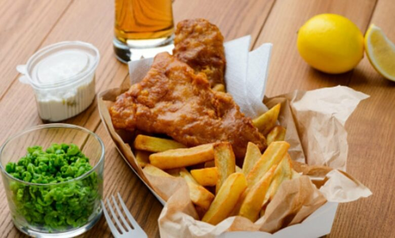 Fish and chips de caballa, receta de pescado auténtica británica 1